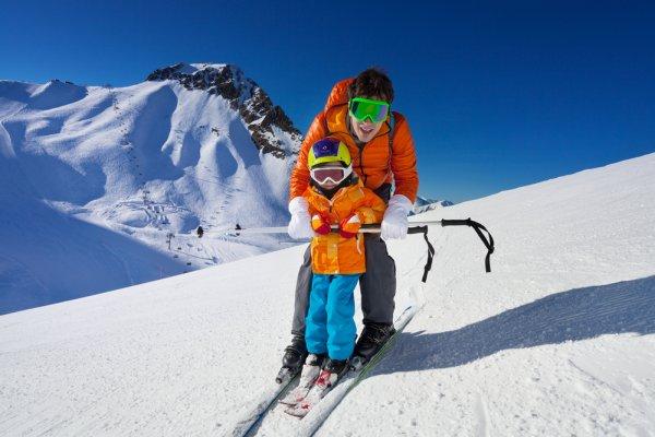 lyže, lyžování, stres, relaxace, posilování svalů, zdravý pohyb