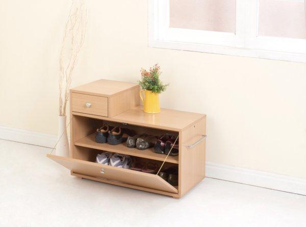 nábytek, chodba, botník, dřevěný botník
