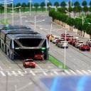 Čínský obkročný autobus je realitou. Auta jezdí pod ním!
