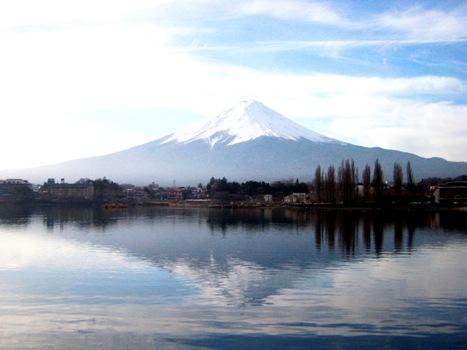 Posvátná hora Fudži /Fuji/ v Japonsku