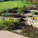 Stavební prvky v rekreační zahradě