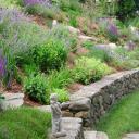 Zahrada na kopci nebo ve svahu