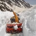 Hloubka sněhu na použití sněhové frézy