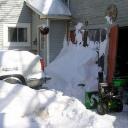 Instalace řemene u sněhové frézy