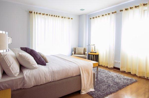 ložnice, povlečení, postel, polštářek