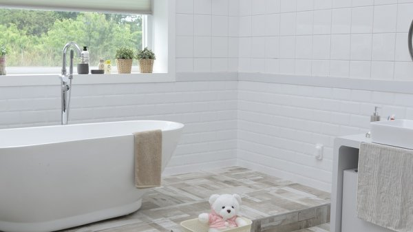 koupelna, obklady, vana, umyvadlo