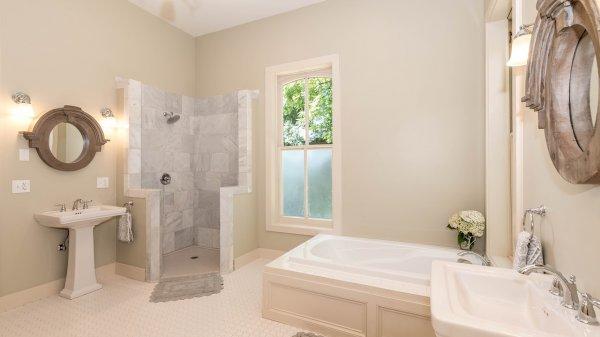 okno, koupelna, design