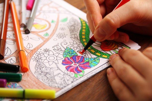 omalovánky pro dospělé, zábava, kreslení