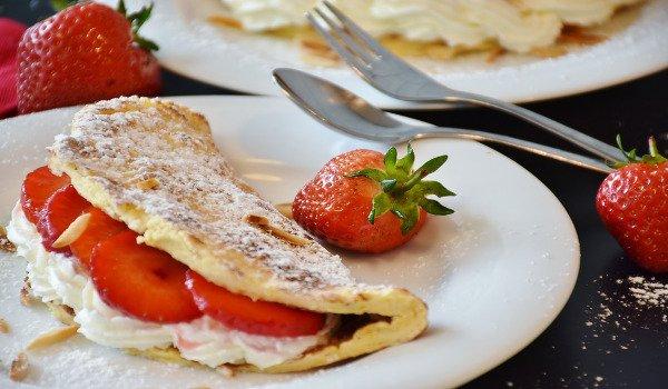 vaření, omeleta, vaření pro děti, ovoce