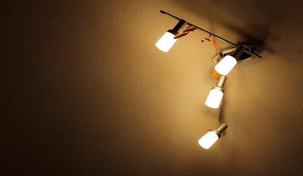 osvětlení, obývací pokoj, světlo