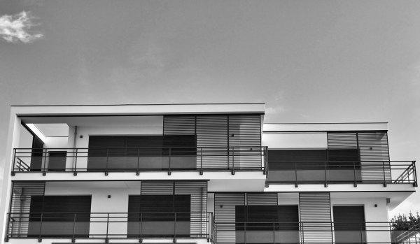bydlení, střecha, plochá střecha