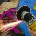 Práce s úhlovou bruskou