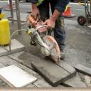 Řezání dlaždic a obkladů úhlovou bruskou