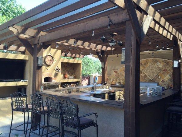 venkovní kuchyň, zdraví, stolování, grilování