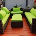 Zahradní nábytek z umělého ratanu skvěle vypadá a snadno se udržuje